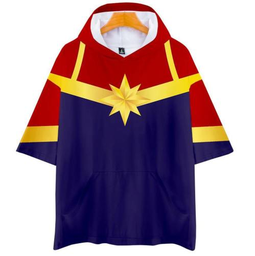 Captain Marvel T-Shirt - Carol Danvers Graphic Hoodie T-Shirt Csos942