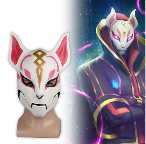 Fortnite Fox Drift Skin Mask Helmet Halloween Half Face Mask
