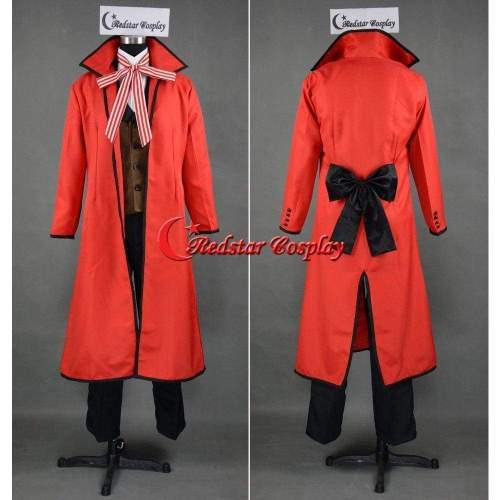 Black Butler Kuroshitsuji Shinigami Grell Sutcliff Cosplay Costume Custom In Any Size