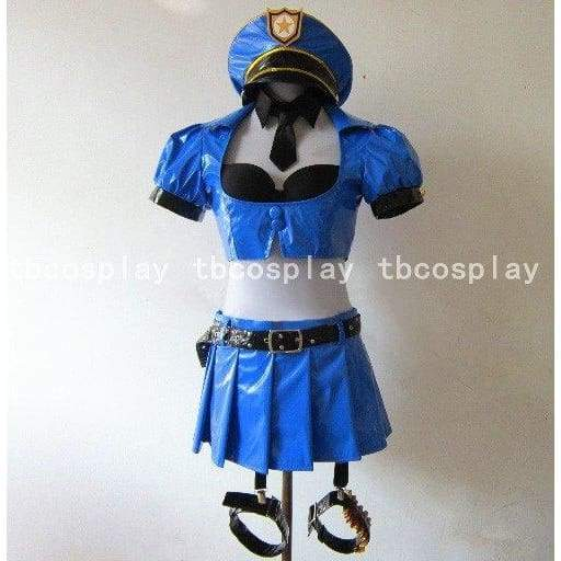 LoL Costume League of Legends Caitlyn Blue Cosplay Costumes