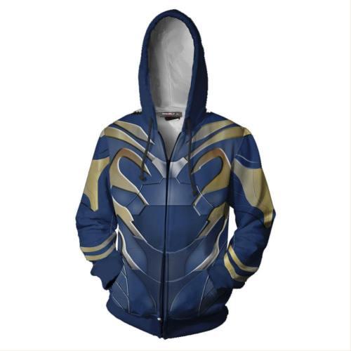 Unisex Pepper Potts Hoodies Iron Man Zip Up 3D Print Jacket Sweatshirt
