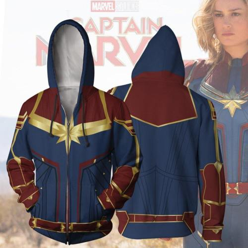 Captains Amercia 3D Sanitary Clothes Cosplay Zipper Hoodie