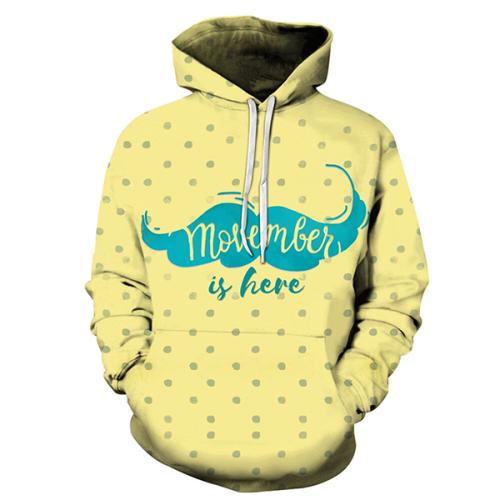 Yellow Polka Movember Hoodie - Sweatshirt, Hoodie, Pullover