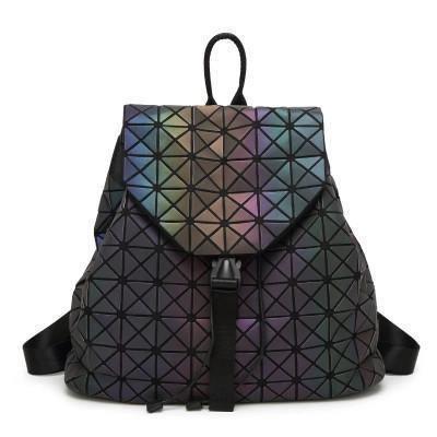 Geometric Hologram Backpack For Women