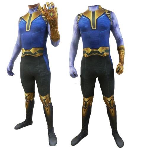 Avengers 4 Endgame Thanos Costume Halloween Cosplay Bodysuit Jumpsuits