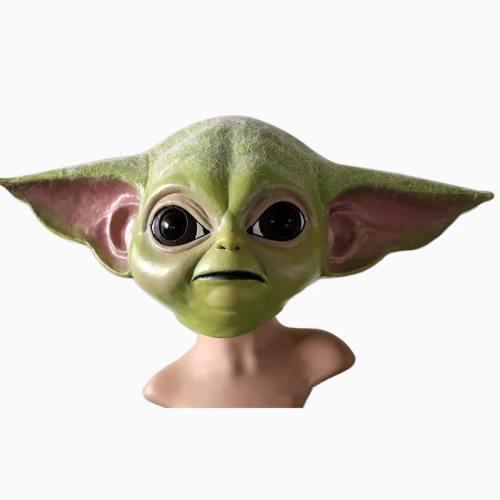 Star Wars Bady Yoda Halloween Funny Latex Helmet Gloves Cosplay Props