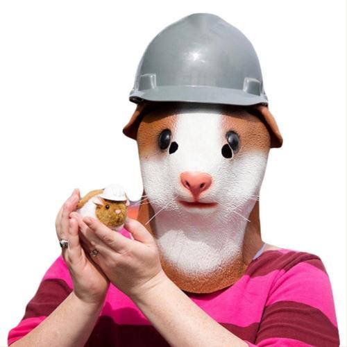 Halloween Animal Latex Helmet Guinea Pigfull Face Helmet Adult Cosplay Props