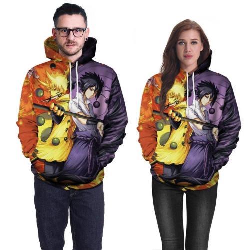 Naruto 3D Hoodie Anime Costume Sweatshirt For Men And Boys