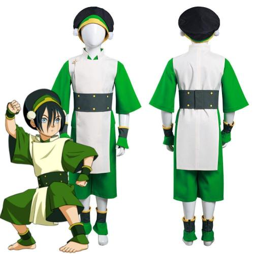 Avatar: The Last Airbender Toph Bengfang Kids Children Vest Pants Outfits Halloween Carnival Suit Cosplay Costume