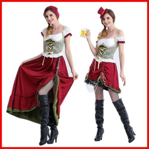 Oktoberfest German Beer Party Uniform Costume Overalls Women Dress