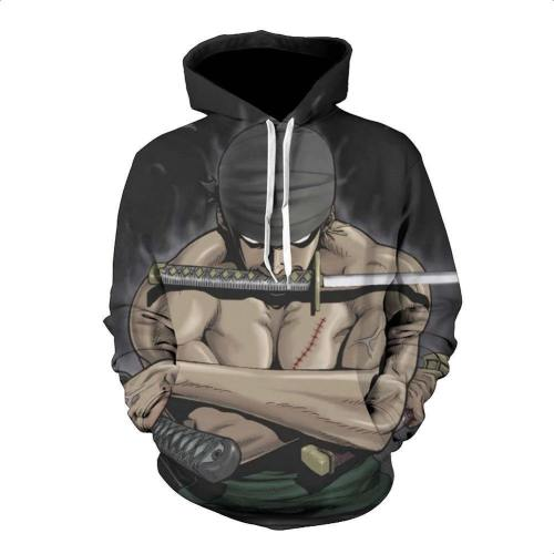 One Piece Hoodie - Zoro Pullover Hoodie Csso022