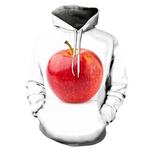 Red Apple White 3D - Sweatshirt, Hoodie, Pullover
