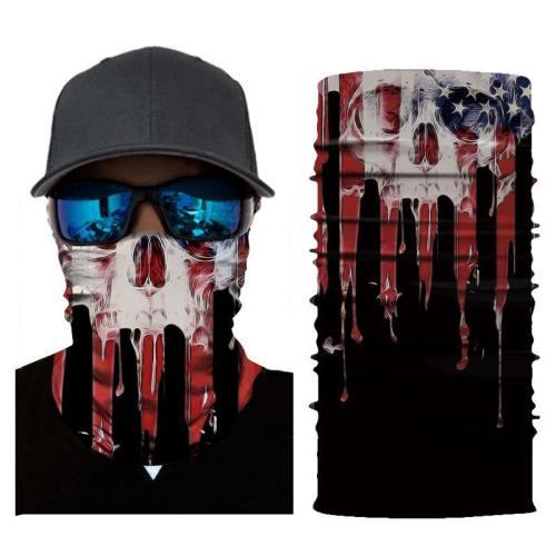 3D Seamless Skull Balaclava Face Mask Camouflage