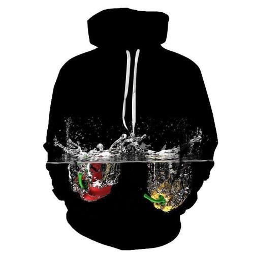 Black Water Splash 3D Hoodie