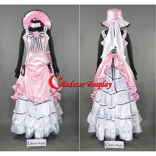 Ciel Phantomhive Pink Dress From Black Butler Cosplay Costume Custom In Any Size