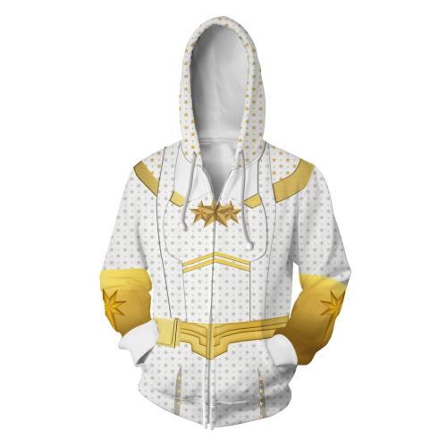 The Boys Season 1 Starlight Annie January Cosplay Hoodies Halloween Cosplay Jacket Sweater Zipper Clothing