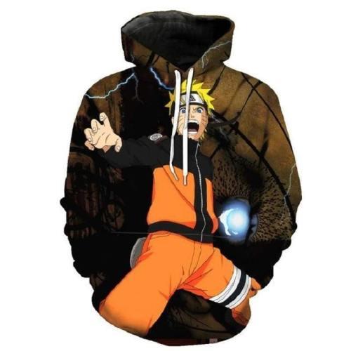 Naruto Hoodie - Naruto Uzumaki Pullover Hoodie