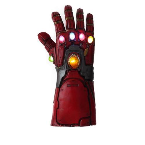 Avengers 4 Iron Man Superhero Infinity Gauntlet Latex Led Glove Costume