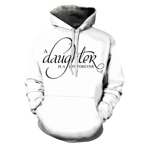 Daughter Joy Forever Dad 3D - Sweatshirt, Hoodie, Pullover
