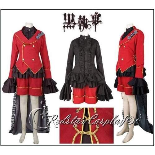 Black Butler 2 Kuroshitsuji Ciel Phantomhive Cosplay Costume - Custom made in Any size