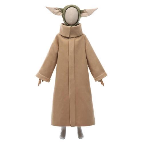 The Mandalorian Season 2-Baby Yoda Grogu Coat Headgear Outfits Halloween Carnival Suit Cosplay Costume