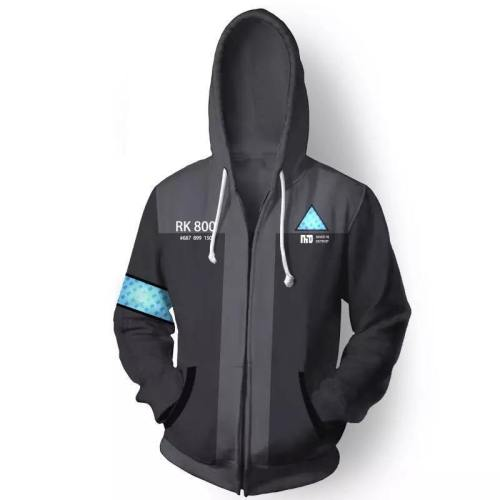 Game Detroit Become Human Connor Rk800 Sweatshirt Cosplay Costumes Spring Fall Men Women Casual Coat Hooded Zip Jacket Hoodie