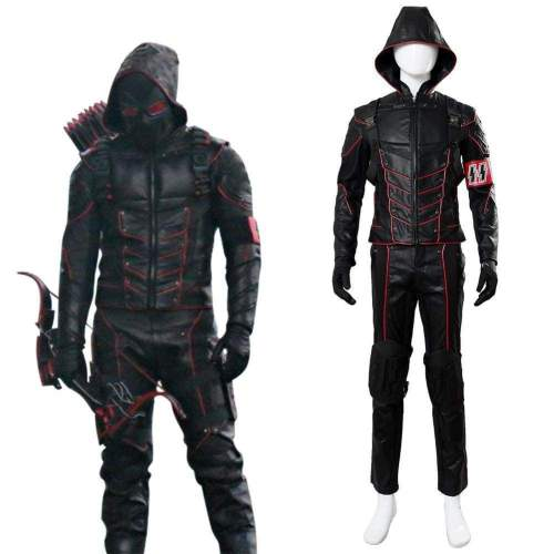 Arrow Dark Arrow Tommy Merlyn Outfit Suit Hood Cosplay Costume