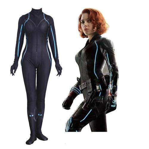 Women Kids Black Widow Natalia Cosplay Costume Zentai Bodysuit Suit