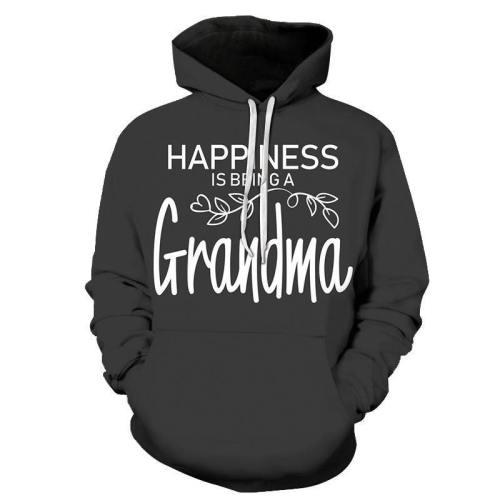 Happiness Black Grandma 3D - Sweatshirt, Hoodie, Pullover