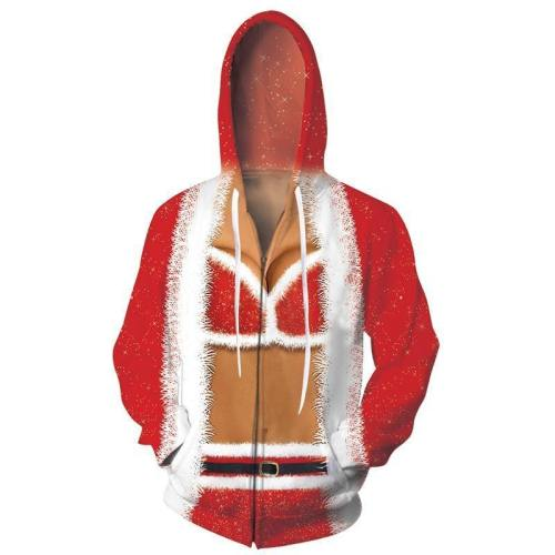 Mens Zip Up Hoodies Sexy Bra 3D Graphic Printing Hoody