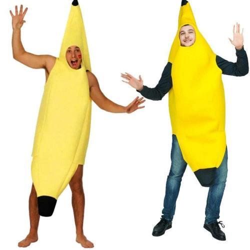 Halloween Party Adults Mascot Banana Superman Costume