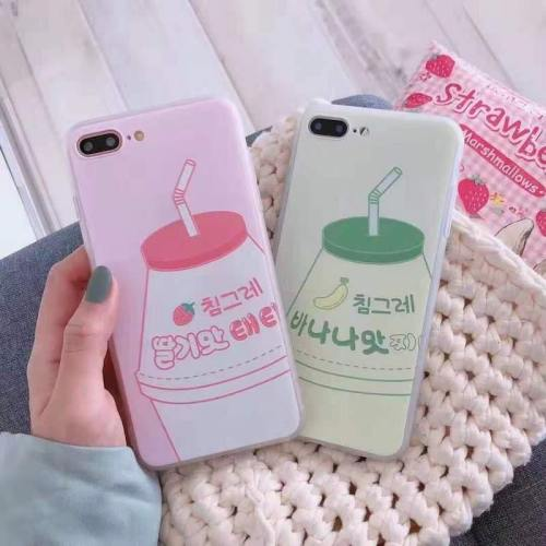 Korean Strawberry/Banana Yogurt Drink Phone Case