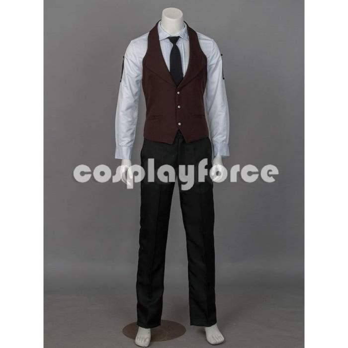Black Butler Kuroshitsuji Sebastian Michaelis Cosplay Costume (Movie Versions)