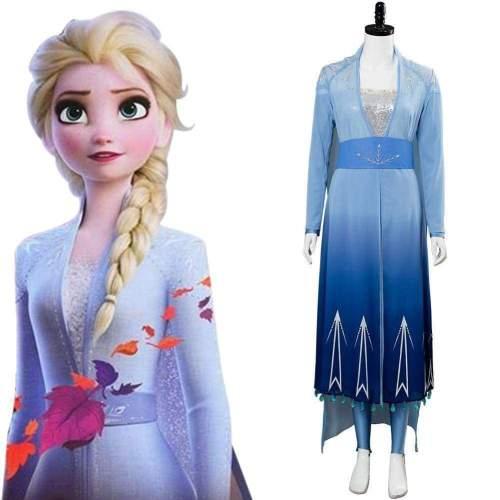 Disney Frozen 2 Princess Elsa Cosplay Costume
