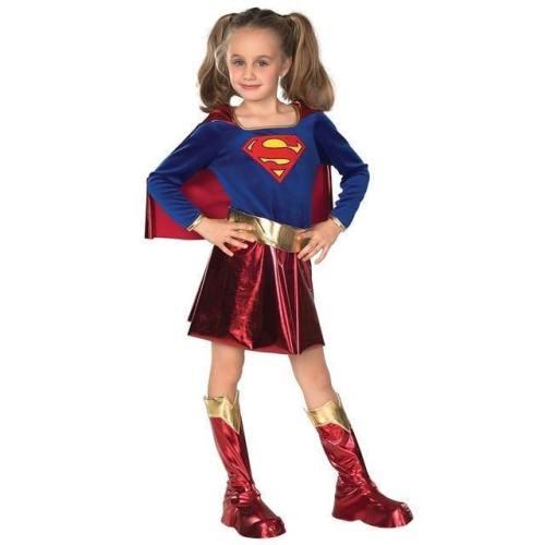 Captain Marvel Child Girl Superhero Cosplay Party Super Costumes Dress