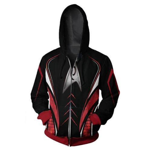 Unisex Movie Hoodies Star Trek Zip Up 3D Print Jacket Sweatshirt