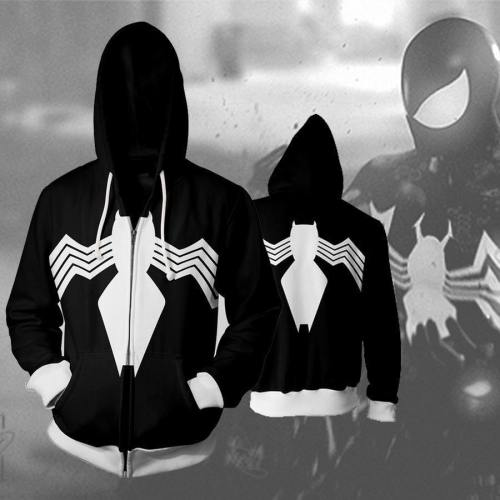Symbiote Spider Man Zip Up Hoodie