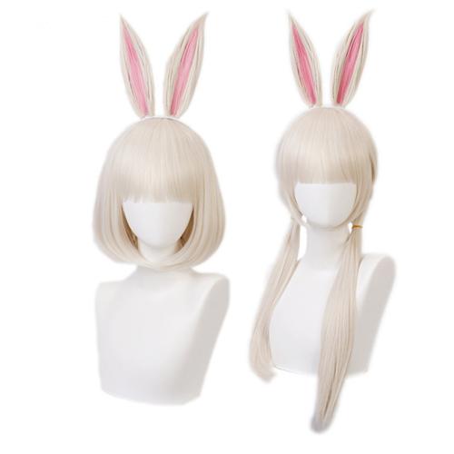 Anime Beastars Haru Bunny Rabbit Ears Short Long Hair Wigs Cosplay