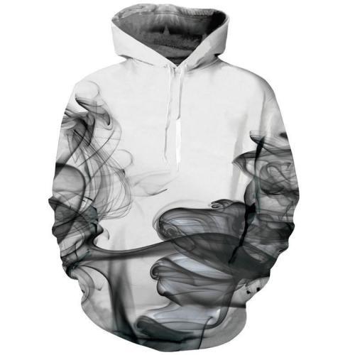 Mens Hoodies 3D Printing Smoke Printed Winter Hoodies Tracksuits
