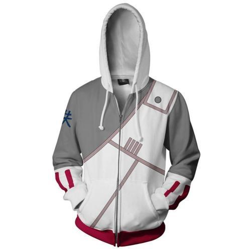 Unisex Killer B Hoodies Naruto Zip Up 3D Print Jacket Sweatshirt