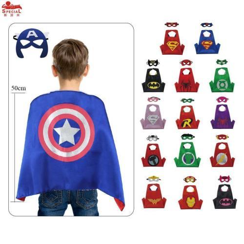 Kids Superhero Cape Mask Baby Costume Carnival Spider-Man