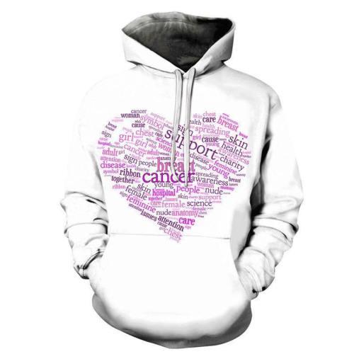 Breast Cancer Word Cloud 3D - Sweatshirt, Hoodie, Pullover
