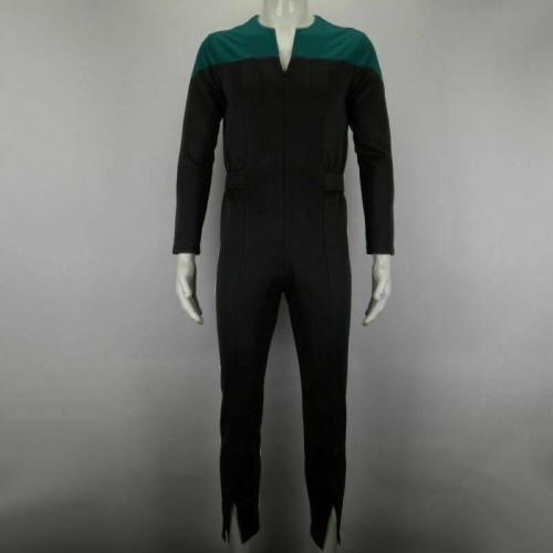 Star Trek Deep Space Nine Blue Uniform Jumpsuit Cosplay Adult Male Costumes New