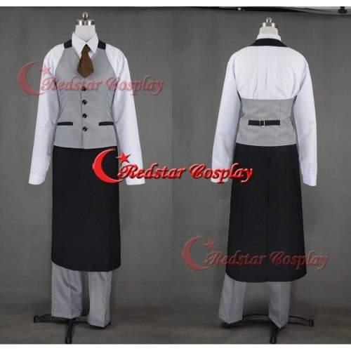 Tokyo Ghoul Ken Kaneki Cafe Uniform Cosplay Costume Custom In Any Size