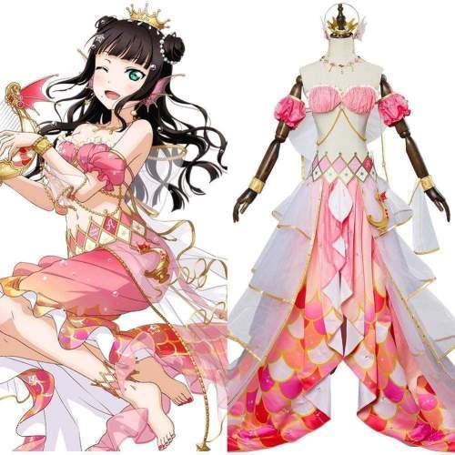 Lovelive Mermaid Festa Kurosawa Dia Cosplay Costume Awakening Dress