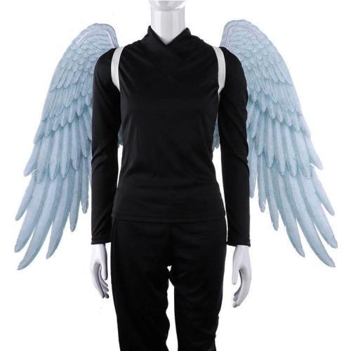 Tdaichan High Quality Pu Foam Soft Engelenvleugels Adult Women Cosplay Costume Black And White Asas De Anjo Alas De Angel Wings