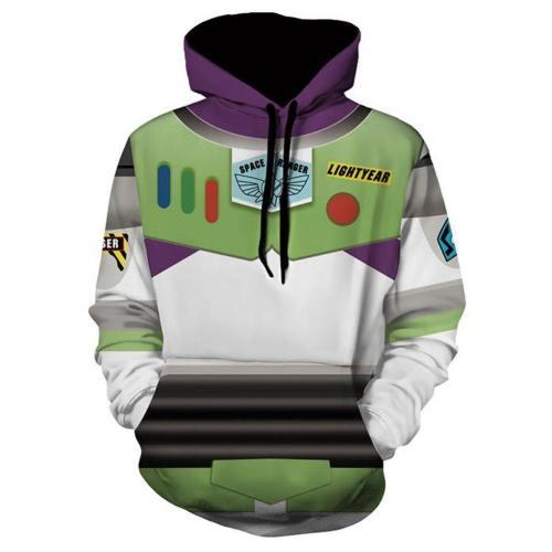 Unisex Buzz Lightyear Hoodies Toy Story 4 Pullover 3D Print Jacket Sweatshirt