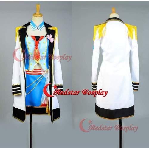 Love Live!Nishikino Maki Cosplay Costume School Idol Tomodachi Cosplay Navy Sailor Suit Cape