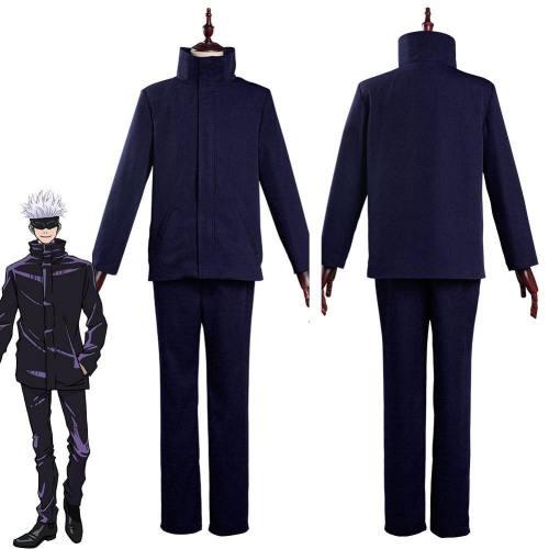 Jujutsu Kaisen-Satoru Gojo School Uniform Outfits Halloween Carnival Suit Cosplay Costume