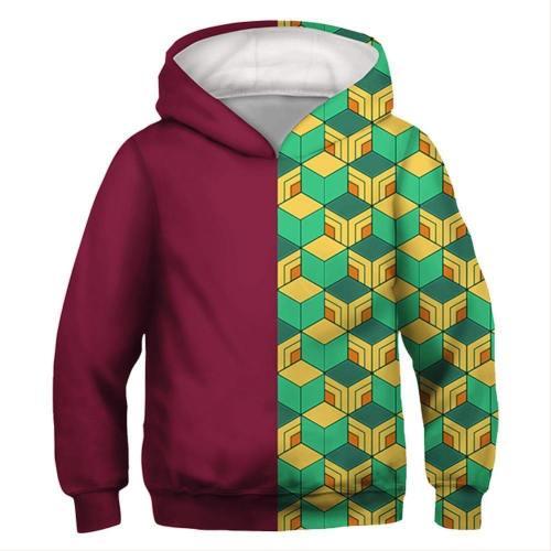 Kids Tomioka Giyuu Hoodies Demon Slayer: Kimetsu No Yaiba Pullover 3D Print Jacket Sweatshirt